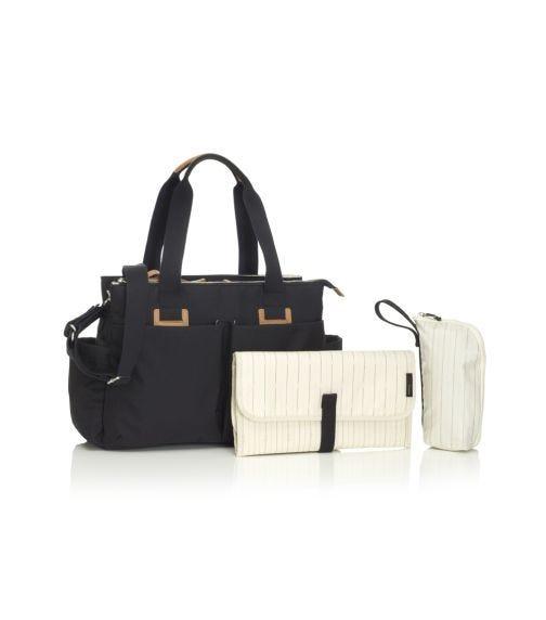 STORKSAK Travel Shoulder Diaper Bag - Black