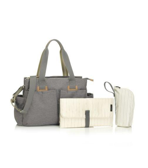 STORKSAK Travel Shoulder Diaper Bag - Grey