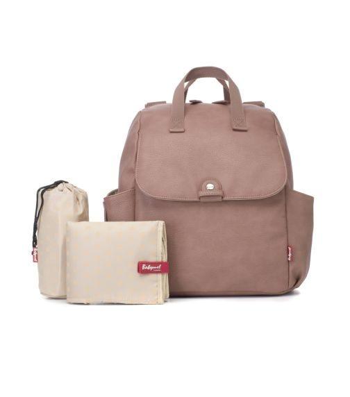 BABYMEL Robyn Convertible Diaper Bag Vegan Leather - Dusty Pink