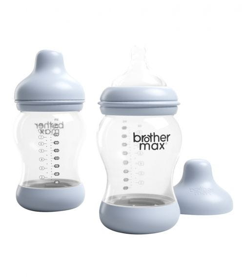 BROTHER MAX Anti-Colic Feeding Bottle 240ML 2 Pack