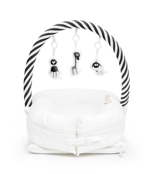 DOCKATOT Toy Arch For Deluxe+ Pod - Black & White Stripes