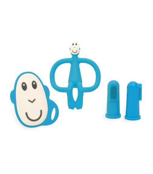 MATCHSTICK MONKEY Matchstick Monkey Teething Starter Set - Blue