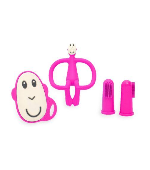 MATCHSTICK MONKEY Matchstick Monkey Teething Starter Set - Pink