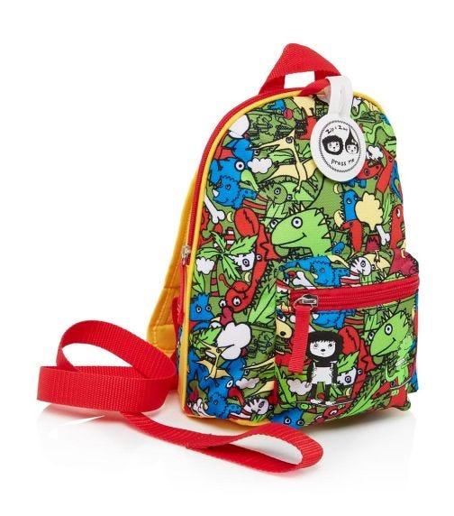 ZIP & ZOE Mini Backpack+ Safety Harness (1-4Y) Dino Multi
