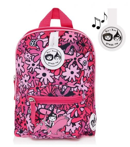 ZIP & ZOE Mini Backpack+ Safety Harness (1-4Y) Floral Pink