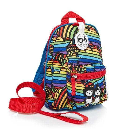 ZIP & ZOE Mini Backpack+ Safety Harness (1-4Y) Rainbow Multi