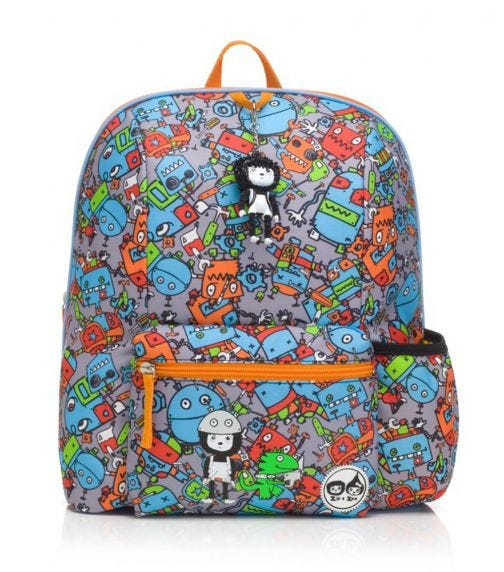 ZIP & ZOE Midi Kid's Backpack (3-7Y) Robot Blue