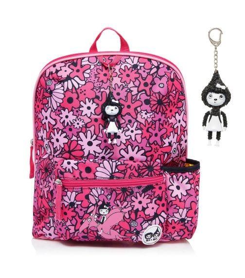ZIP & ZOE Midi Kid's Backpack (3-7Y) Floral Pink