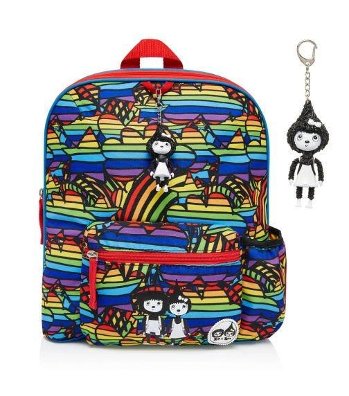 ZIP & ZOE Midi Kid's Backpack (3-7Y) Rainbow Multi