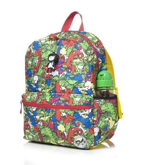 ZIP & ZOE Junior Kid's Backpack (4-9Y) Dino Multi