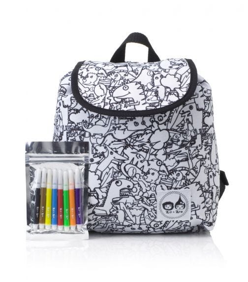 ZIP & ZOE Colour and Wash Backpack - Dino