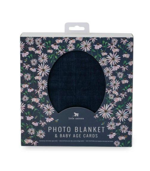 LITTLE UNICORN Photo Blanket - Dark Cone Flower