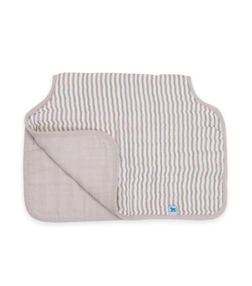 LITTLE UNICORN Cotton Muslin Burp Cloth - Grey Stripe