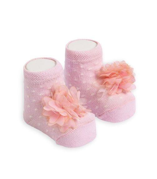 OLAY SOCKS Baby Socks - Pink Tulle Flower