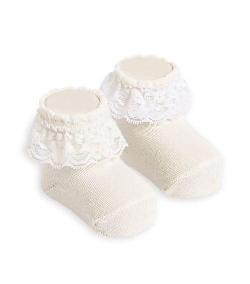 OLAY SOCKS Baby Socks - Cream Lace