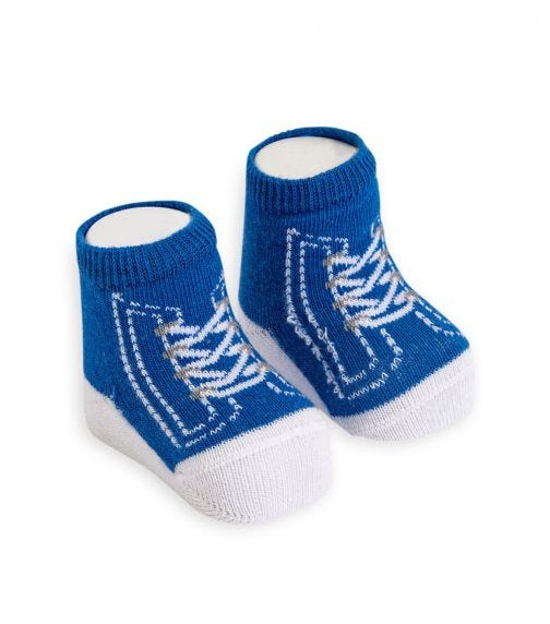 OLAY SOCKS Baby Socks - Blue Converse Shoelace