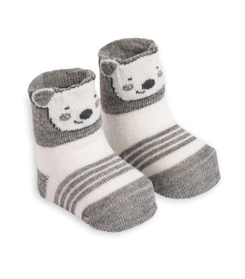 OLAY SOCKS Baby Socks - Grey Koala