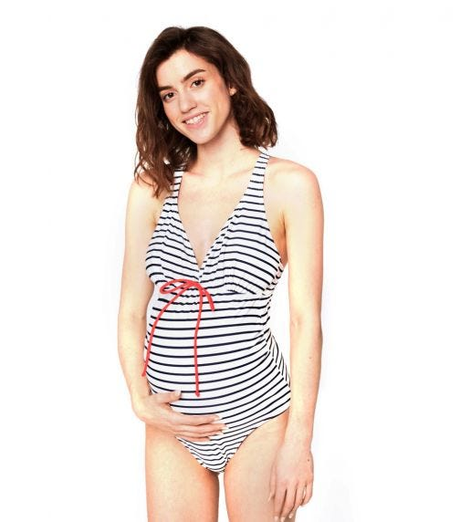 MAMALICIOUS Mlnew Josefine Stripy Swimsuit