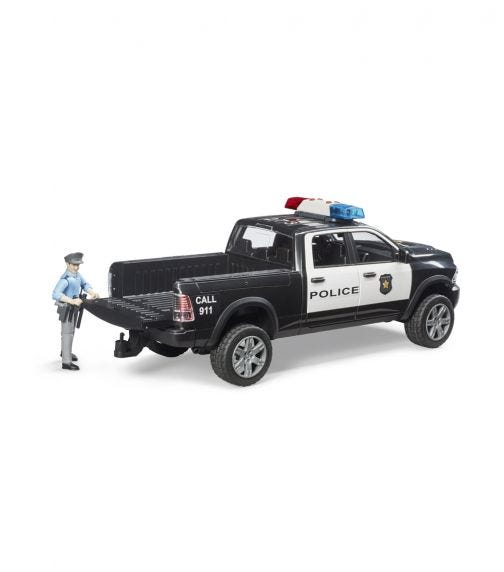 BRUDER Ram 2500 Police Truck With Policeman And Accessories