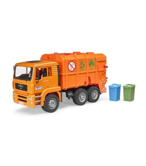BRUDER Man TGA Garbage Truck Orange