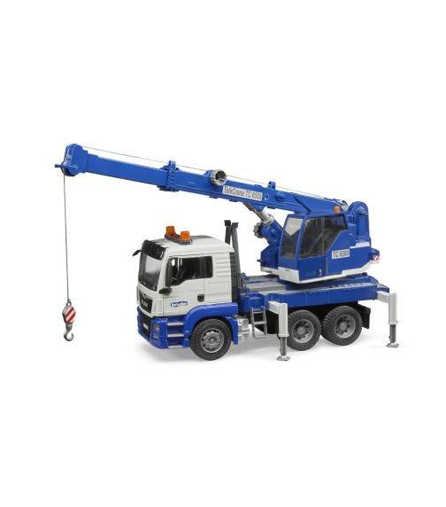 BRUDER Man TGS Crane Truck With Light Sound Module