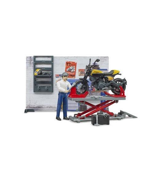 BRUDER BWORLD Motorcycle Service With Scrambler Ducati