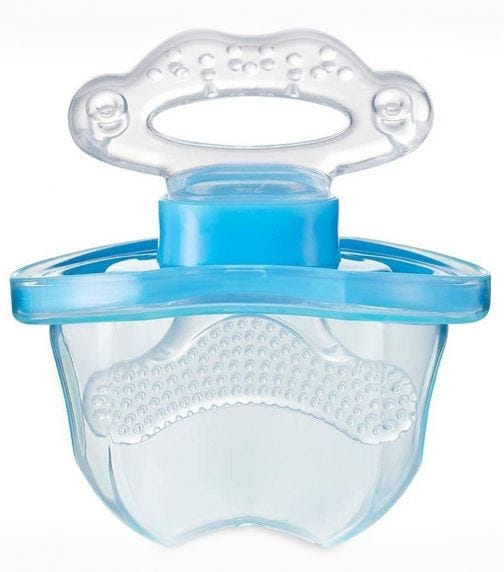BRUSH BABY Frontease Teether Blue