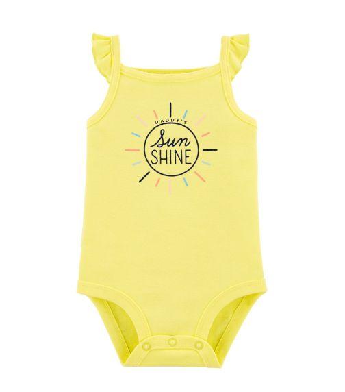 CARTER'S Daddy's Sunshine Flutter Bodysuit