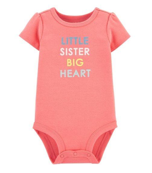 CARTER'S Little Sister Big Heart Bodysuit