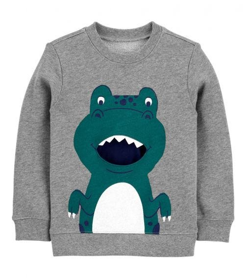 CARTER'S Dinosaur French Terry Pullover