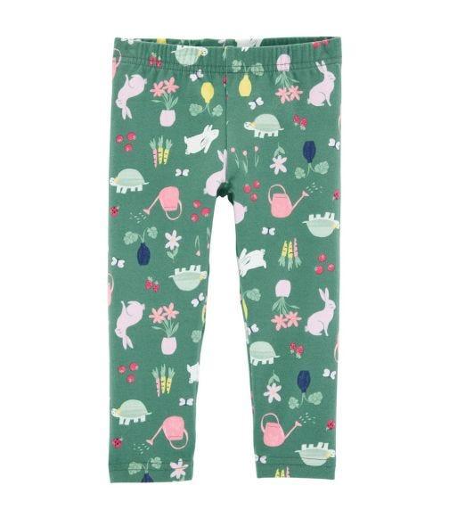 CARTER'S Floral Bunny Capri Leggings