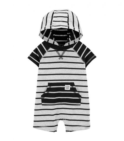 CARTER'S Hooded Cotton Romper