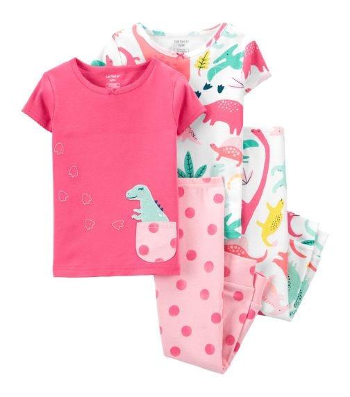 CARTER'S 4-Pack Dinosaur 100% Snug Fit Cotton PJs