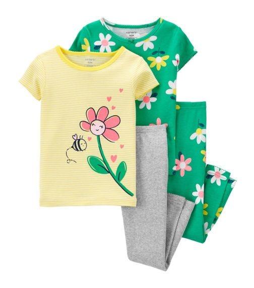 CARTER'S 4-Piece Floral 100% Snug Fit Cotton PJs