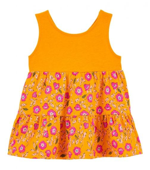 CARTER'S Floral Tiered Crinkle Jersey Tank