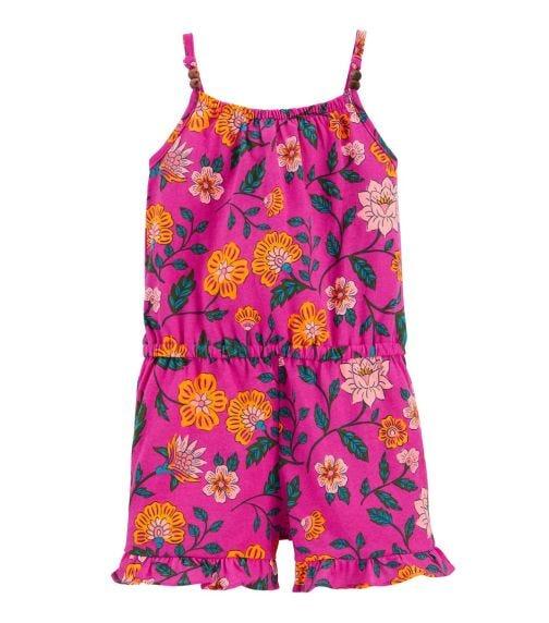 CARTER'S Floral Jersey Romper