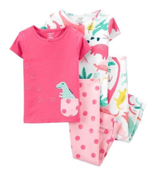 CARTER'S 4-Piece Dinosaur 100% Snug Fit Cotton PJs