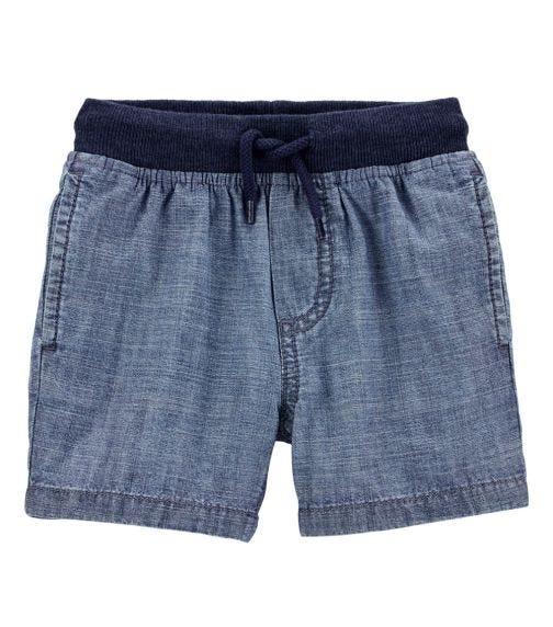 OSHKOSH Pull-On Chambray Shorts