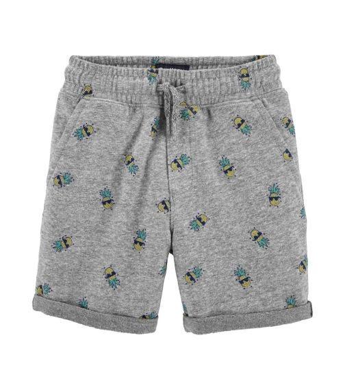 OSHKOSH Pull-On Pineapple French Terry Shorts