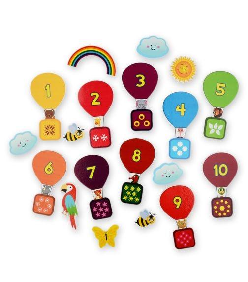 BUDDY & BARNEY Bath Stickers Counting