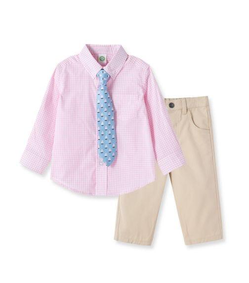 LITTLE ME Pink Woven Pant Set
