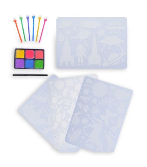 BUDDY & BARNEY Stencil Art Book Set With Dabbers And Ink