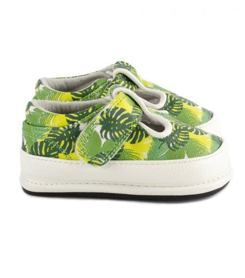 JACK & LILY Kai T-Strap Canvas Shoes - Tropical