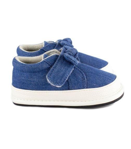 JACK & LILY Evie Felt Bow Sneakers - Denim