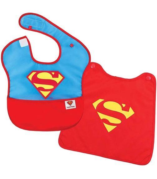 BUMKINS Superbib With Cape Superman