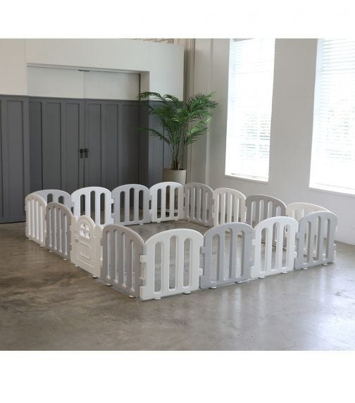iFAM First Baby Room 200 X 280 - White & Light Grey (14EA)