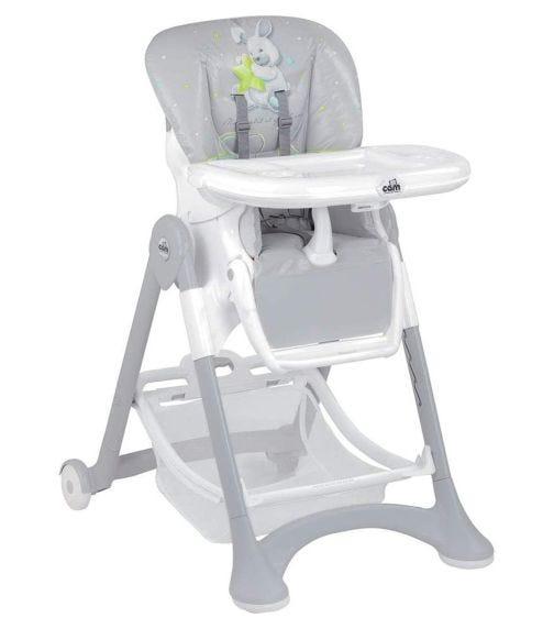 CAM Pappananna High Chair Grey Rabbit