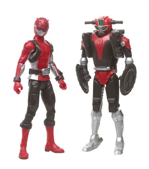 POWER RANGERS Beast Morphers 6 Inch Beastbot Figure Packs - Red Ranger & Cruise Beastbot