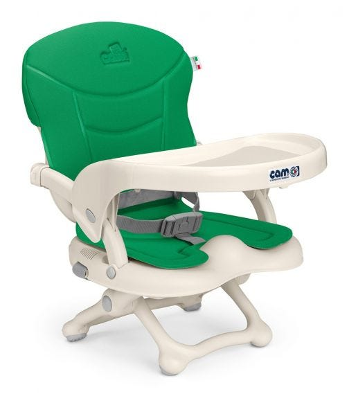 CAM Smarty High Chair Booster Green