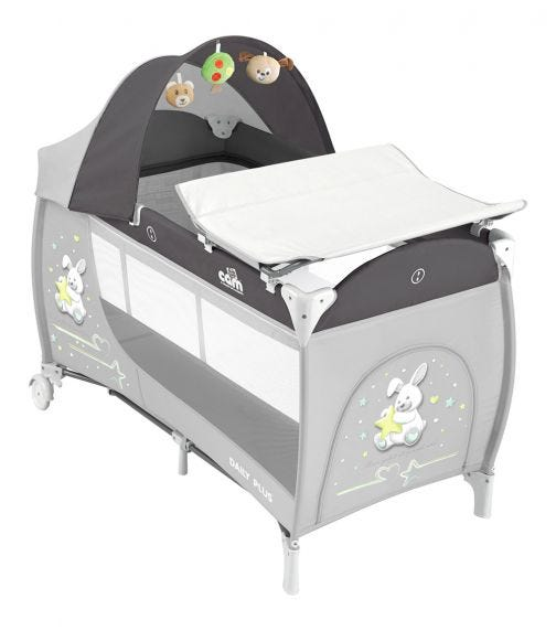 CAM - Daily Plus Travel Cot - Grey